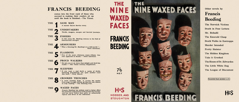Nine Waxed Faces, The. Francis Beeding.