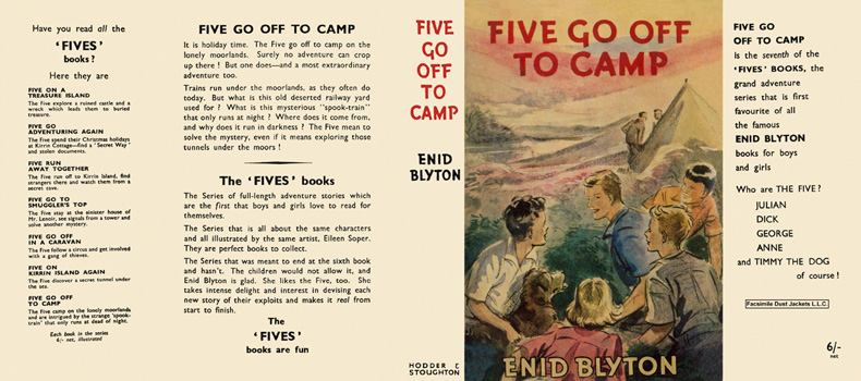 Five Go Off to Camp. Enid Blyton, Eileen Soper