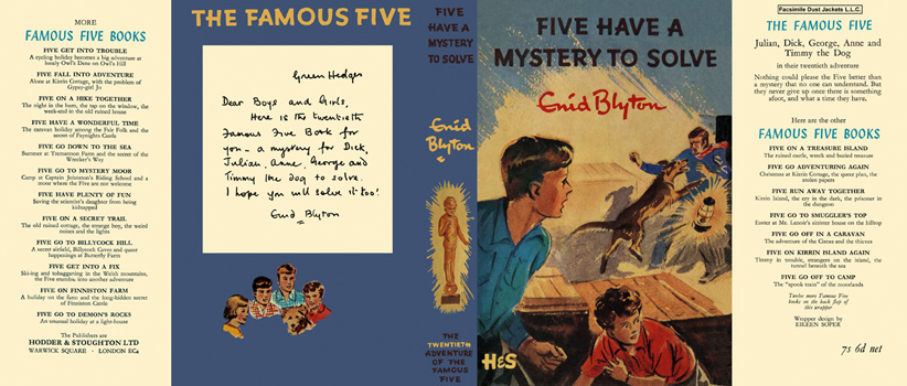 Five Have a Mystery to Solve. Enid Blyton, Eileen Soper