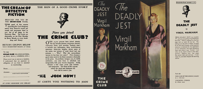 Deadly Jest, The. Virgil Markham.