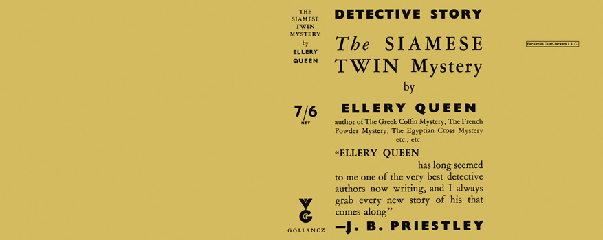 Siamese Twin Mystery, The. Ellery Queen.
