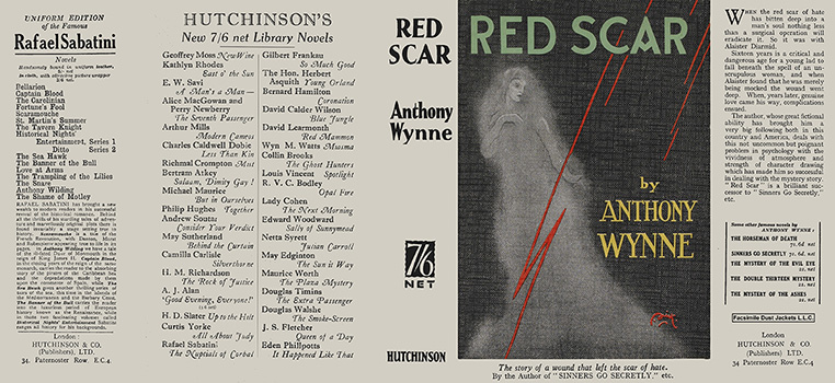 Red Scar. Anthony Wynne