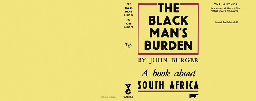 Black Man's Burden, The. John Burger