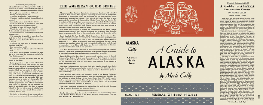 Guide To Alaska, A. American Guide Series Merle Colby, WPA.