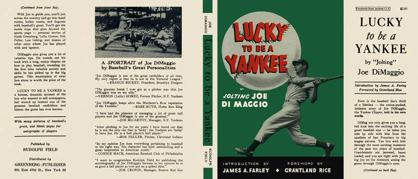 Lucky to Be a Yankee. Joe DiMaggio