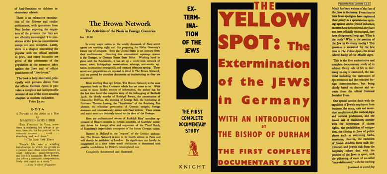Yellow Spot, The Extermination of the Jews in Germany, The. Bishop of Durham