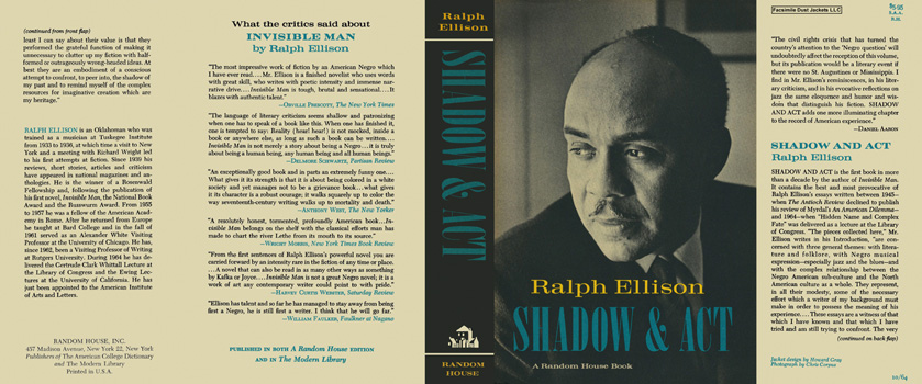 Shadow and Act. Ralph Ellison