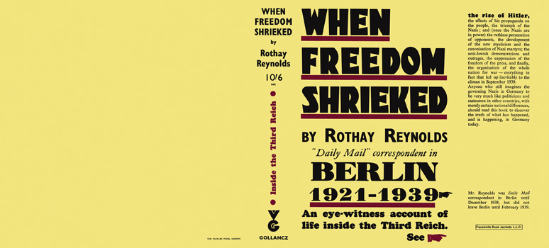 When Freedom Shrieked. Rothay Reynolds