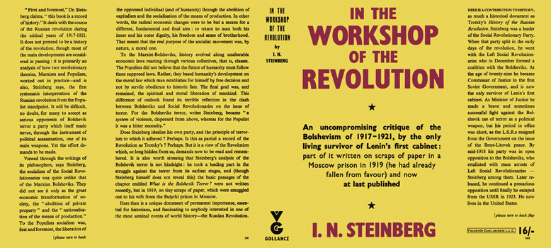 In the Workshop of the Revolution. I. N. Steinberg