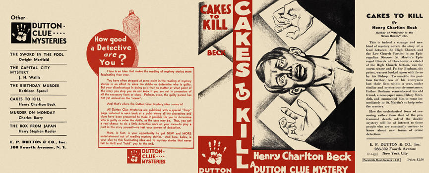 Cakes to Kill. Henry Charlton Beck