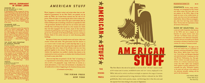 American Stuff. WPA, Anthology
