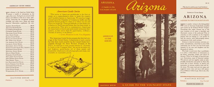 Arizona, A Guide to the Youngest State. American Guide Series, WPA