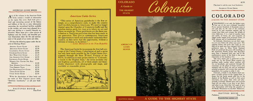 Colorado, A Guide to the Highest State. American Guide Series, WPA.