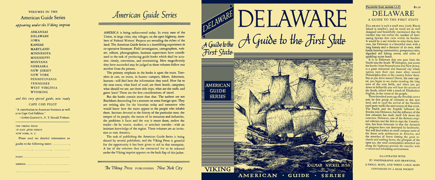 Delaware, A Guide to the First State. American Guide Series, WPA.