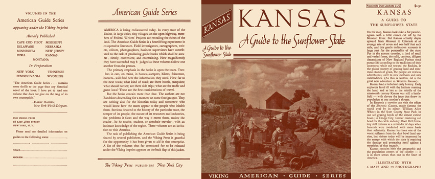 Kansas, A Guide to the Sunflower State. American Guide Series, WPA