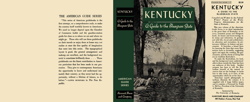Kentucky, A Guide to the Bluegrass State. American Guide Series, WPA
