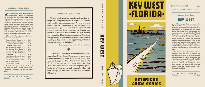 Key West Florida. American Guide Series, WPA