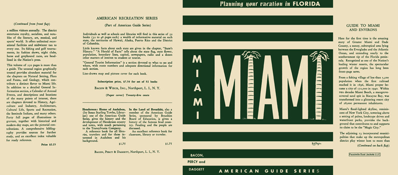 Miami, A Guide to Miami and Its Environms. American Guide Series, WPA
