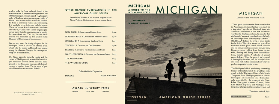 Michigan, A Guide to the Wolverine State. American Guide Series, WPA