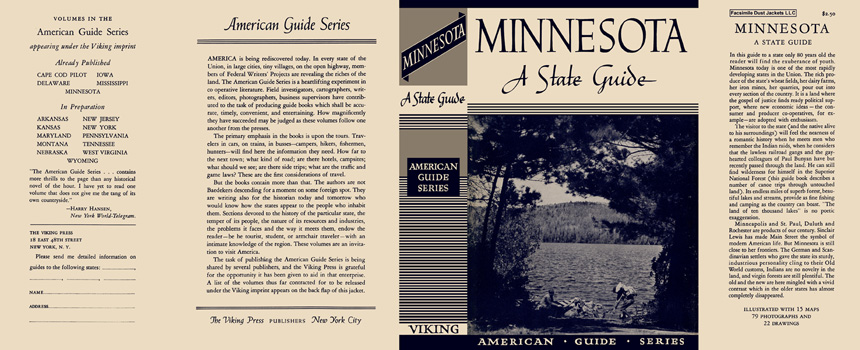 Minnesota, A State Guide. American Guide Series, WPA