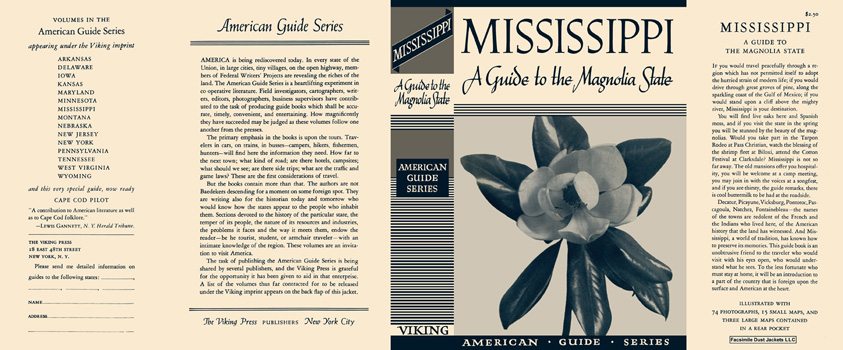 Mississippi, A Guide to the Magnolia State. American Guide Series, WPA