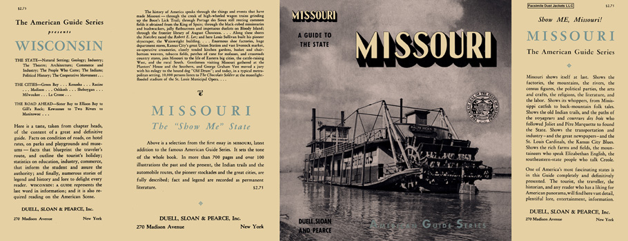 Missouri, A Guide to the State. American Guide Series, WPA.