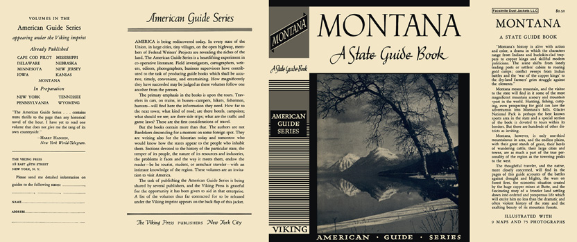 Montana, A State Guide Book. American Guide Series, WPA