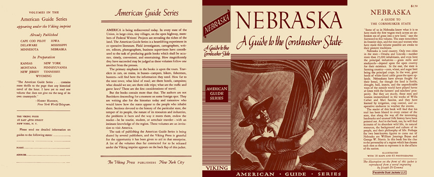 Nebraska, A Guide to the Cornhusker State. American Guide Series, WPA