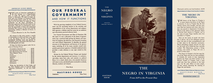 Negro in Virginia, The. Virginia Writers' Project, WPA.