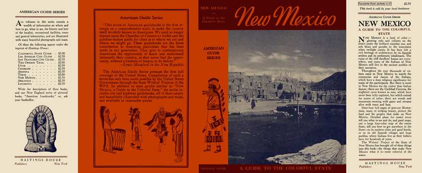New Mexico, A Guide to the Colorful State. American Guide Series, WPA