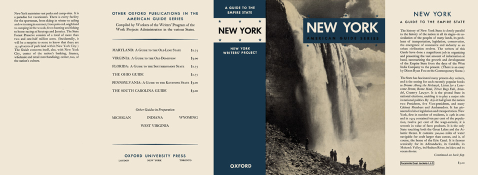 New York, A Guide to the Empire State. American Guide Series, WPA