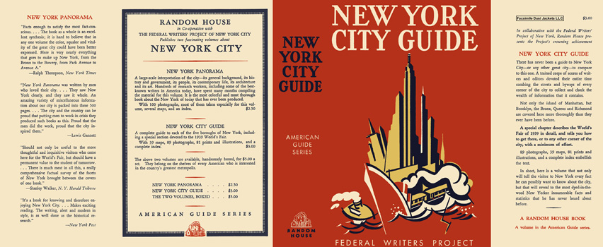 New York City Guide. American Guide Series, WPA
