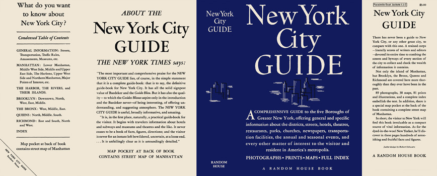 New York City Guide (blue variant without the chapter on the 1939 World's fair). American Guide...