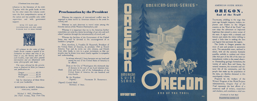 Oregon, End of the Trail. American Guide Series, WPA