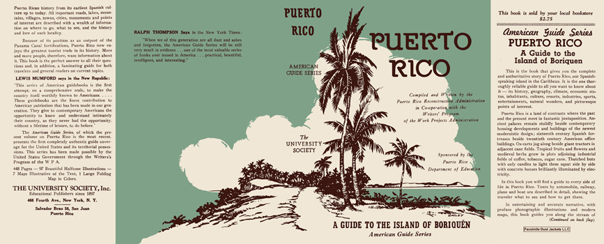 Puerto Rico, A Guide to the Island of Boriquen. American Guide Series, WPA