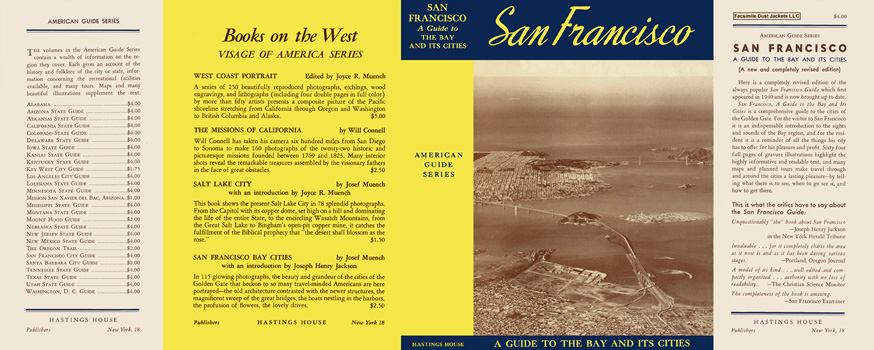 San Francisco, A Guide to the Bay and Its Cities. American Guide Series, WPA
