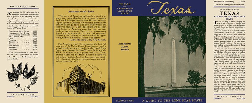 Texas, A Guide to the Lone Star State. American Guide Series, WPA
