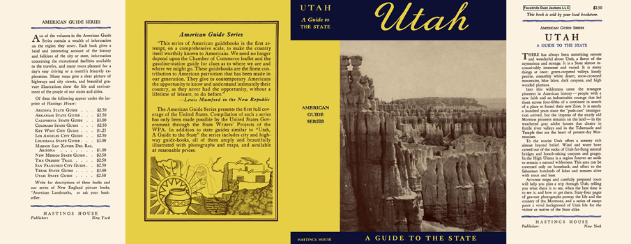 Utah, A Guide to the State. American Guide Series, WPA