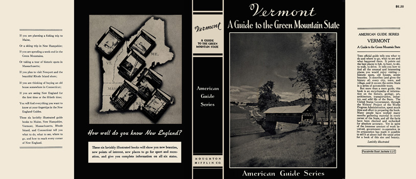 Vermont, A Guide to the Green Mountain State. American Guide Series, WPA