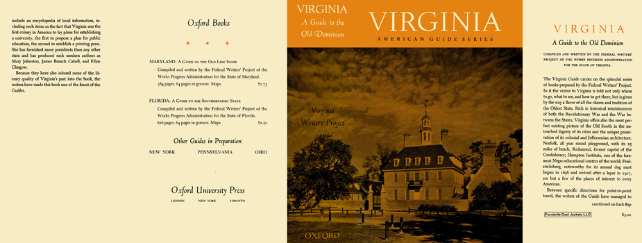 Virginia, A Guide to the Old Dominion. American Guide Series, WPA