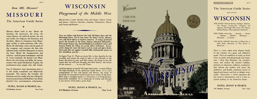 Wisconsin, A Guide to the Badger State. American Guide Series, WPA