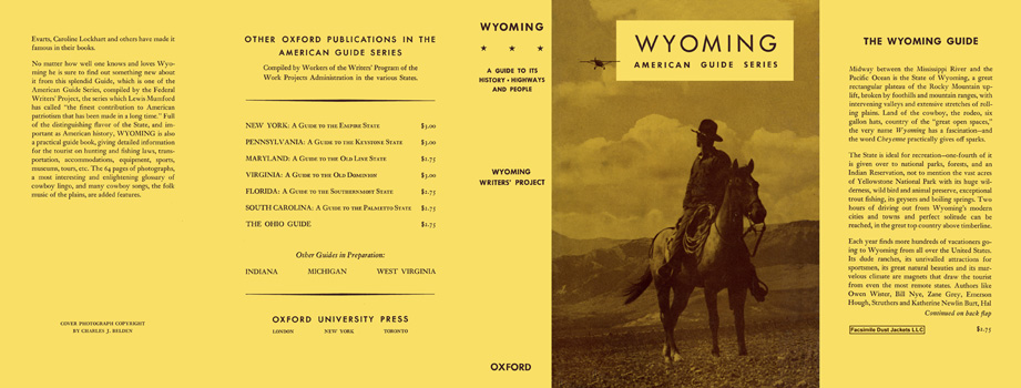 Wyoming, A Guide to Its History, Highways and People. American Guide Series, WPA