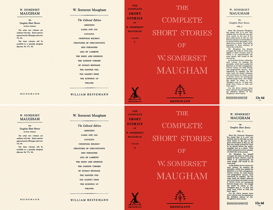 Complete Short Stories of W. Somerset Maugham, Volume 1 & 2, The. W. Somerset Maugham.
