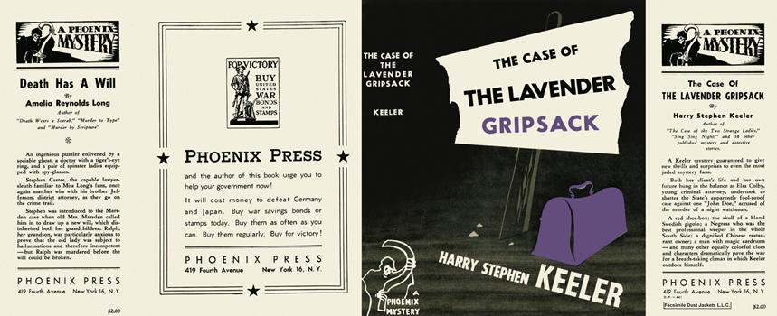 Case of the Lavender Gripsack, The. Harry Stephen Keeler.