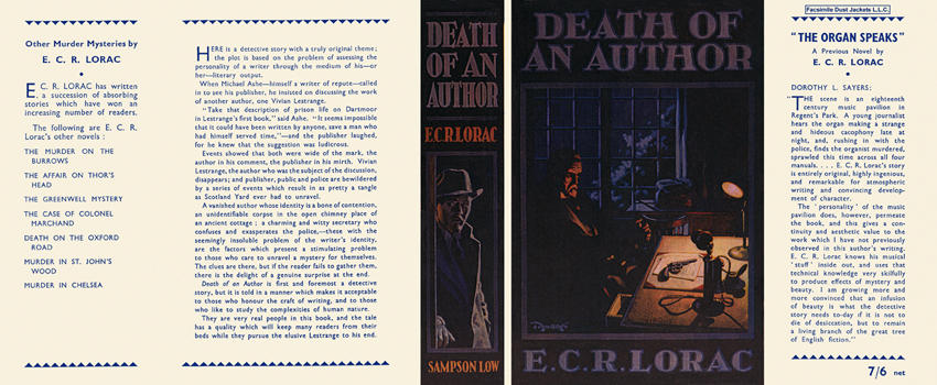 Death of an Author. E. C. R. Lorac