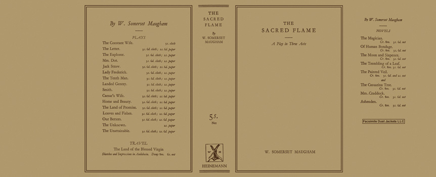 Sacred Flame, The. W. Somerset Maugham