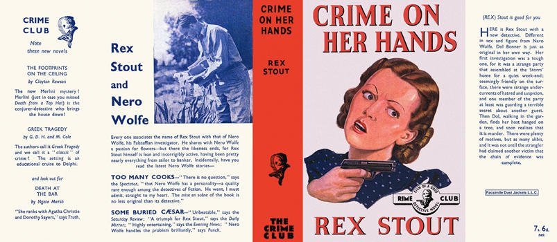 Crime on Her Hands. Rex Stout.