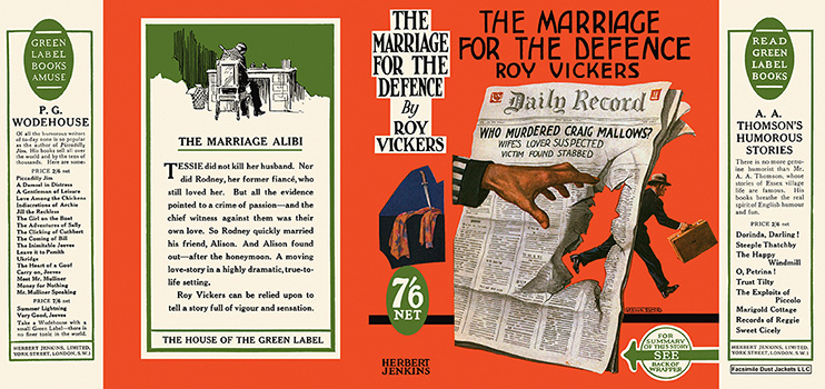 Marriage for the Defence, The. Roy Vickers.