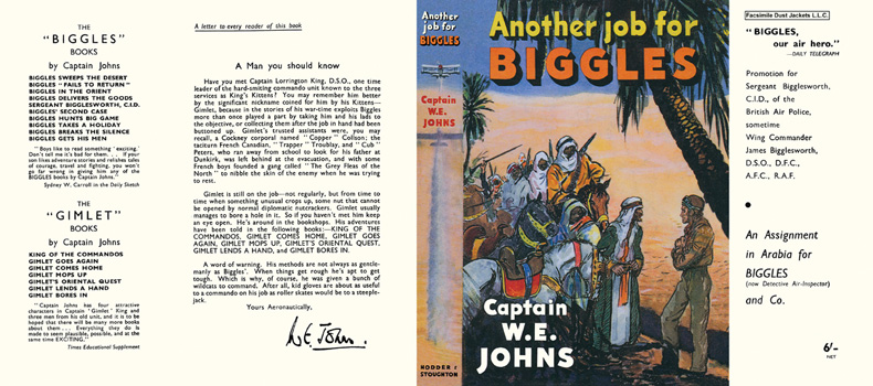 Another Job for Biggles. Captain W. E. Johns