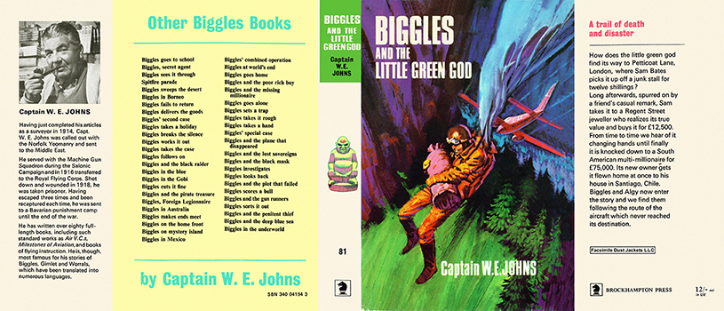 Biggles and the Little Green God. Captain W. E. Johns